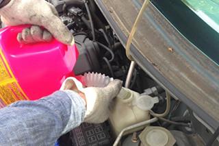 エンジン冷却水交換